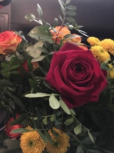 朝5時に受け取った花束♡