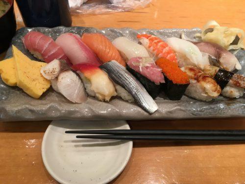 幕張メッセで食べた寿司